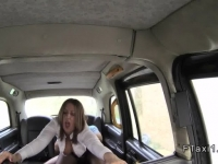 cab in fucks woman bussines Busty