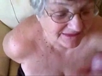 facial amateur great cock. young loves really granny Old